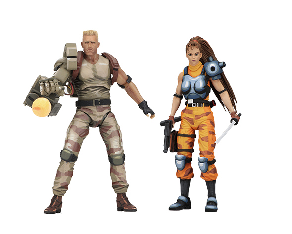 NECA - ALIENS VS PREDATOR DUTCH & ARCADE 2PK