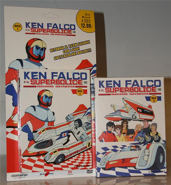 DVD - KEN FALCO E IL SUPERBOLIDE BOX 1 E 2
