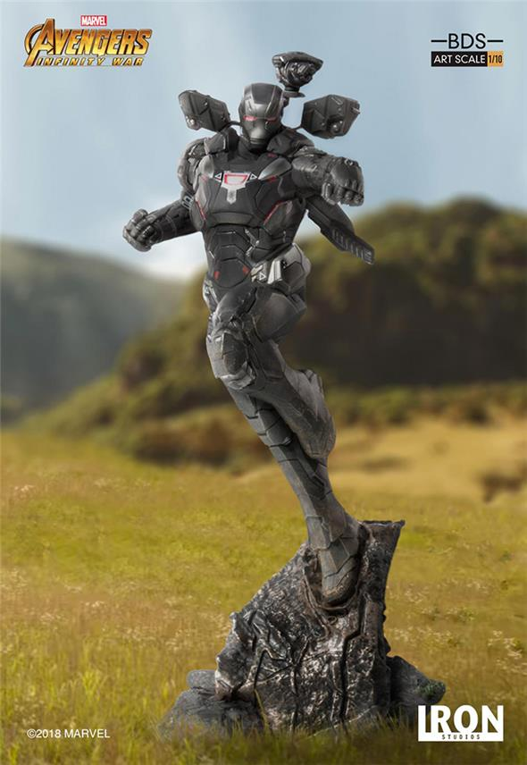 1/10 IRON STUDIOS - AVENGERS I. W. WAR MACHINE ART STATUE