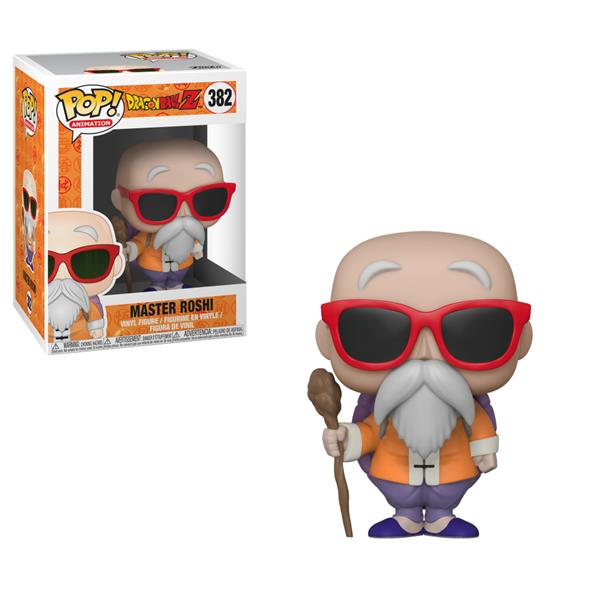 POP ANIMATION - DRAGON BALL Z S4 MASTER ROSHI WITH STAFF 382