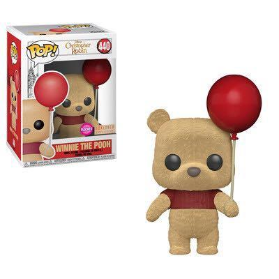 POP VINYL - CHRISTOPHER ROBIN POOH WITH RED BALLOON FLOCKED 440