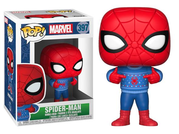 POP MARVEL - HOLIDAY SPIDER-MAN WITH UGLY SWEATER 397