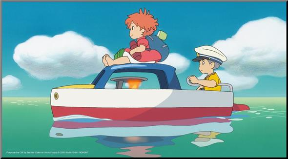 PONYO AND SOSUKE WOOD PANEL