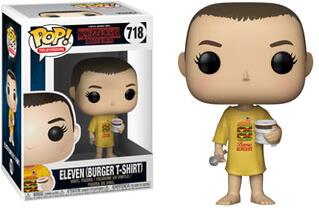 POP TELEVISION - STRANGER THINGS ELEVEN IN BURGER TEE 718