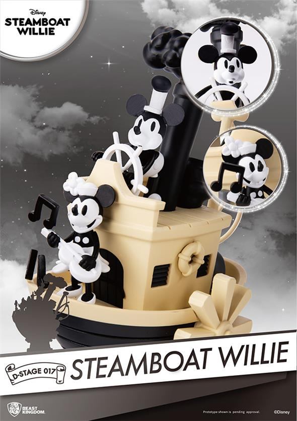 D-STAGE MICKEY STEAMBOAT WILLIE DIORAMA