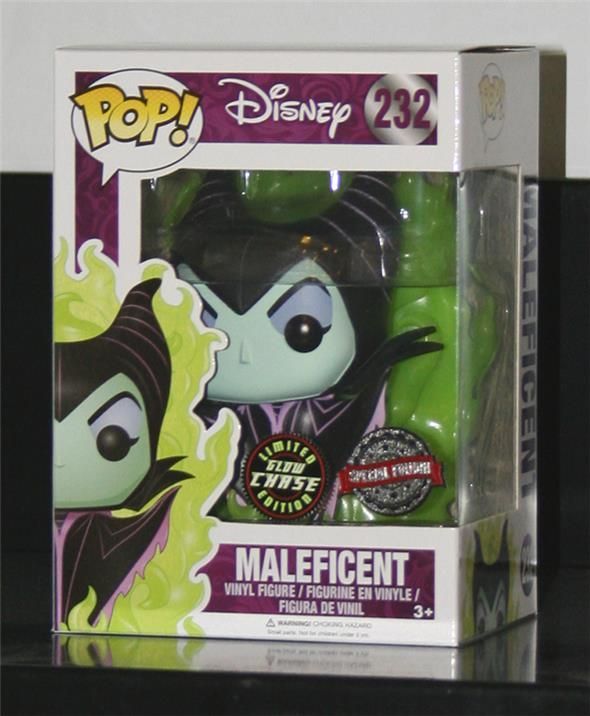 POP DISNEY - MALEFICENT GREEN FLAME CHASE 232 EXCLUSIVE GITD GLOWCHASE