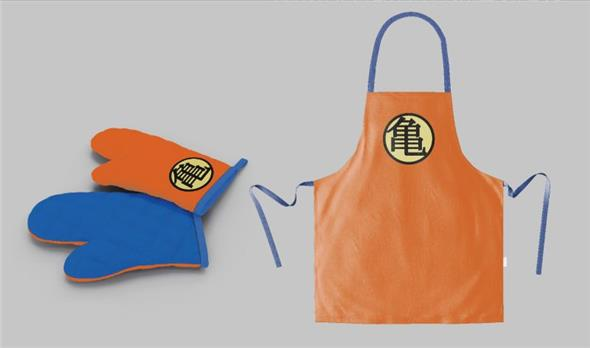 DRAGON BALL - TURTLE SYMB APRON/OVEN MITT