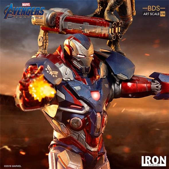 1/10 IRON STUDIOS - AVENGERS ENDGAME IRON PATRIOT & ROCKET STATUE