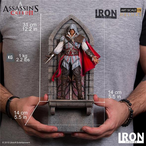 1/10 IRON STUDIOS - ASSASSINS CREED II EZIO AUDITORE DLX STATUE