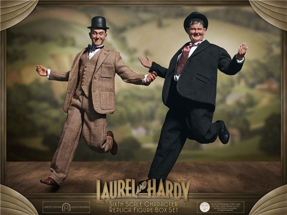1/6 LAUREL & HARDY ACTION FIGURE 2-PACK CLASSIC SUITS LIMITED EDITION