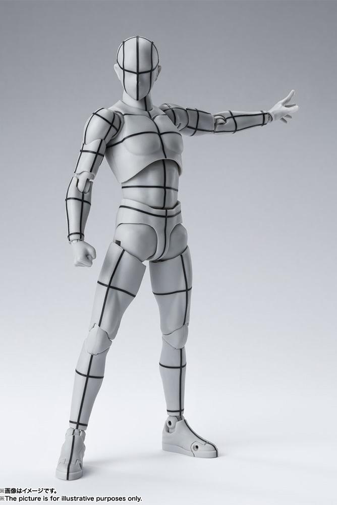 s.h. figuarts - body kun wireframe gray