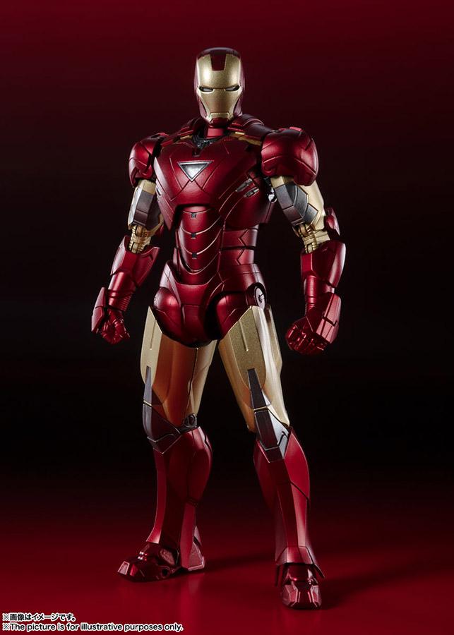 s.h. figuarts - avengers assemble iron man mk vi