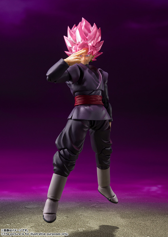 s.h. figuarts - dragon ball super goku black super saiyan rose