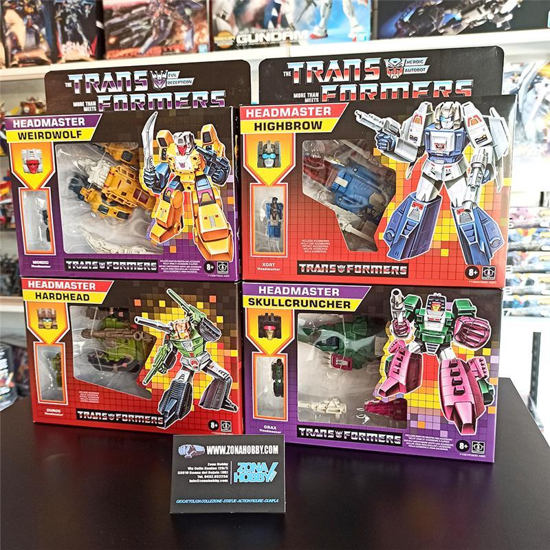 transformers generation - deluxe retro: headmasters