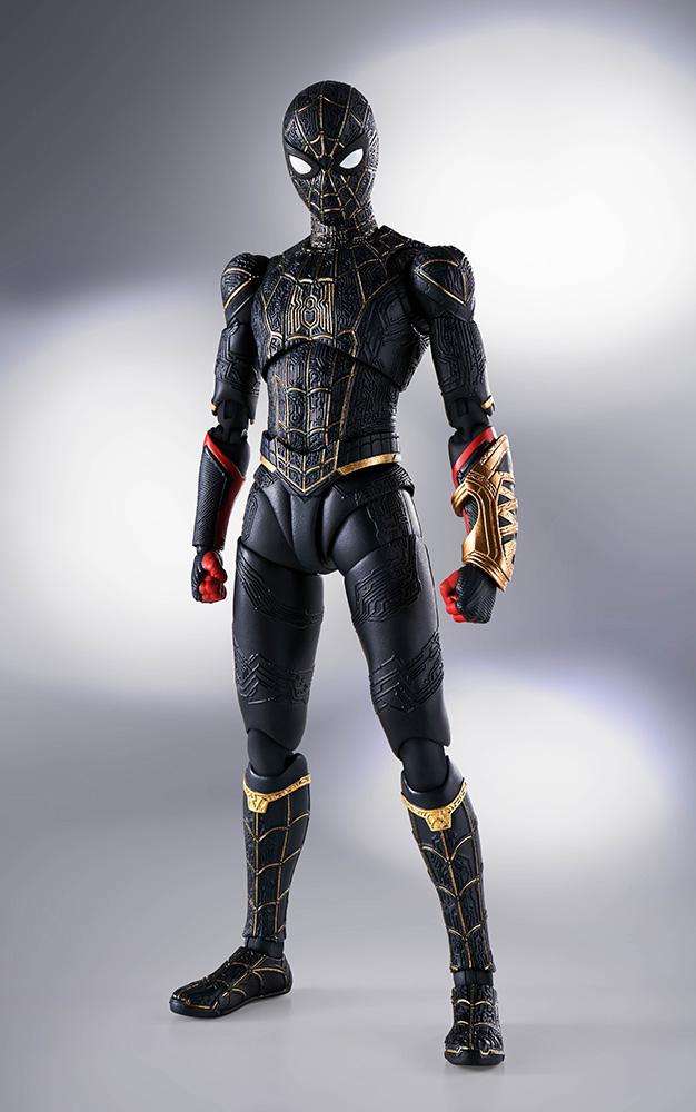 s.h. figuarts - spider-man no way home black/gold