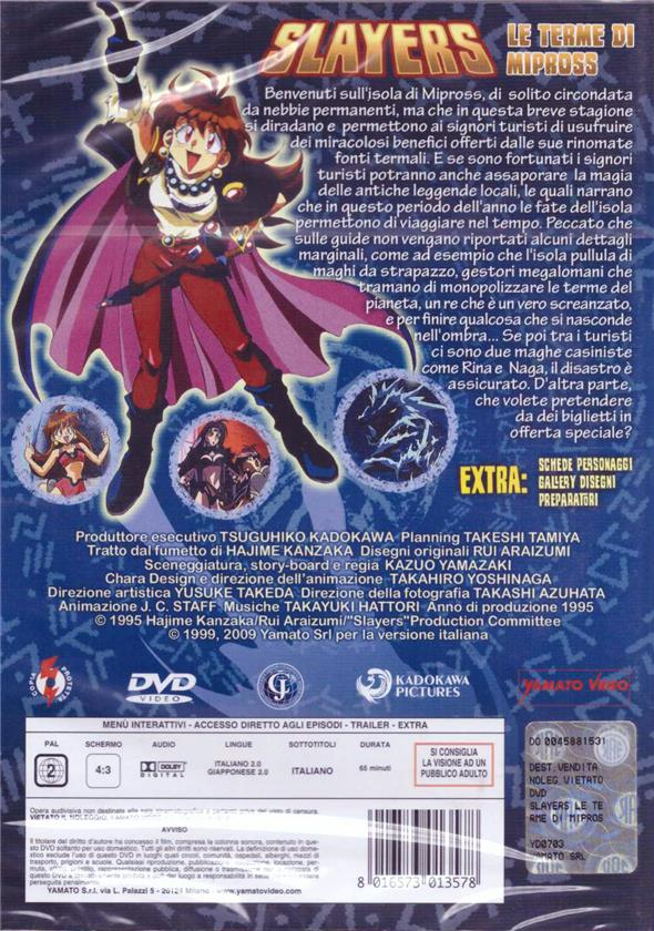 DVD - SLAYERS LE TERME DI MIPROSS