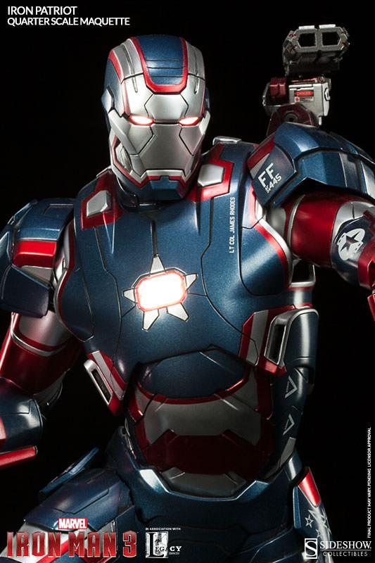 1/4 SIDESHOW MAQUETTE IRON PATRIOT
