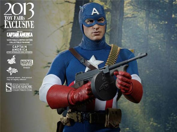 1/6 HOT TOYS - CAPTAIN AMERICA CAP STARSPANGLD SDCC