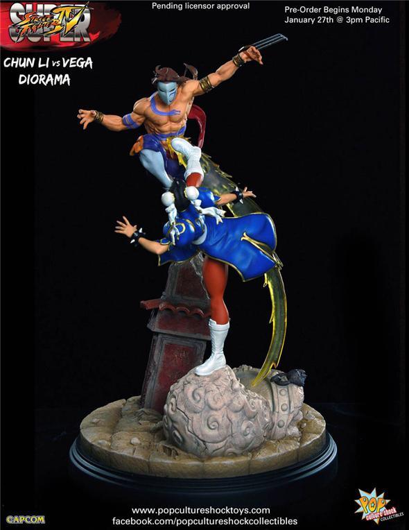 1 4 Street Fighter Chun Li Vs Vega Statue Zonahobby Com