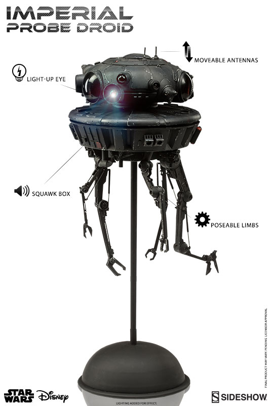 1/6 SIDESHOW STAR WARS IMPERIAL PROBE DROID (2016)